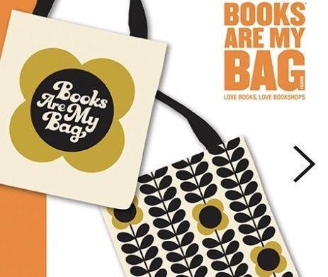 Orla Kiely BAMB Books Are My Bag 2017 Cotton Tote FREE UK DELIVERY
