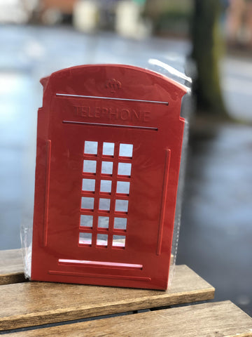*FREE U.K. DELIVERY* Pair of Telephone Box Metal Bookends *Red Only*