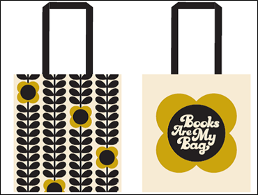 Orla Kiely BAMB Books Are My Bag 2017 Cotton Tote Bag **FREE UK DELIVERY**