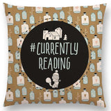Currently Reading Square Cushion Cover 45cm Square