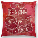 Reading is Always a Good Idea Cushion Cover 45cm Square