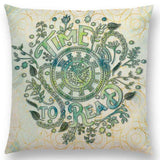 Time to Read Cushion Cover 45cm Square