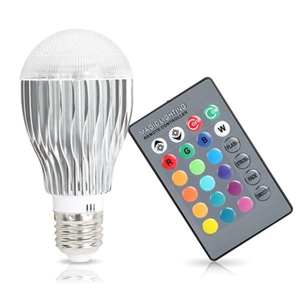 Magic Color Changing LED Light Bulb with Remote Control - Belfast Books