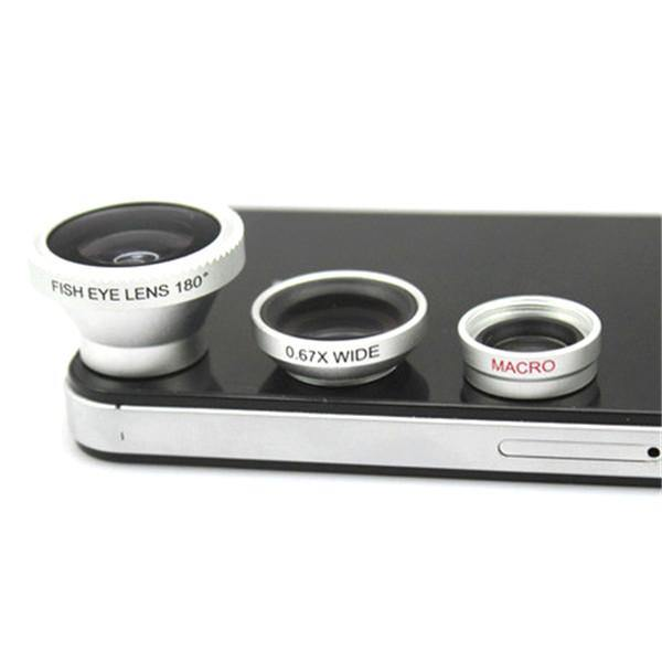 3-Piece Camera Lens Attachment Set For iPhone or Android - Belfast Books