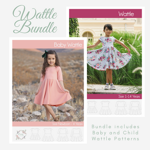 Bundle - Baby and Child Wattle <br> Digital Sewing Pattern