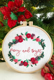Bundle - Holly and Mistletoe <br> Digital Hand Embroidery Pattern