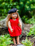 Doll Geranium Cap - Free Pattern Pieces for Blog Tutorial <br> Digital Sewing Pattern