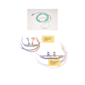 Nasal Cannula Adult Salter Style Divided CO2 7' Tube Male LL B25 - SSS Australia Clearance