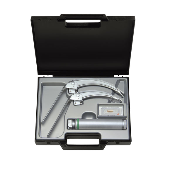 Heine Flexitip Laryngoscope Set 3 & 4 Blade & Handle In Case - SSS Australia Clearance
