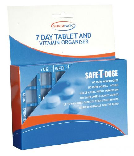 Tablet Holder Safe-T-Dose Box 20 - SSS Australia Clearance