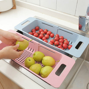 Retractable Vegetable Storage and Washing Rack