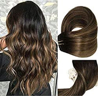 Natural Brown Remy Hair Clip in Extensions - Color #6