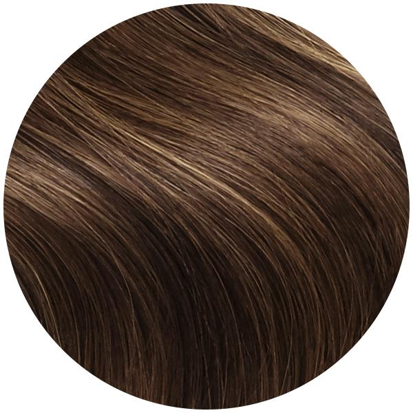 Light Brown Remy Hair Clip in Extensions - Color #60