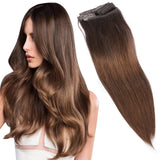 Butterscotch Brown Remy Hair Clip in Extensions - Color #4