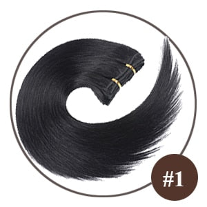 Jet Black Remy Hair Clip-in Hair Extensions