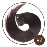 Chocolate Brown Remy Clip in Hair Extensions