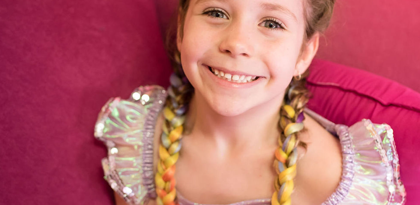 braids are back with a twist of unicorn magic - unicorn colour braid extensions for school holidays
