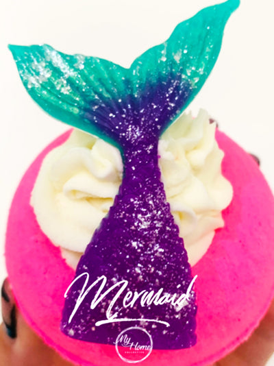 mermaid tail bath bomb for kids - bath products for kids