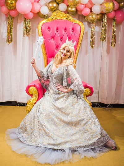 deluxe princess host included in dream disco party package gold coast kids party