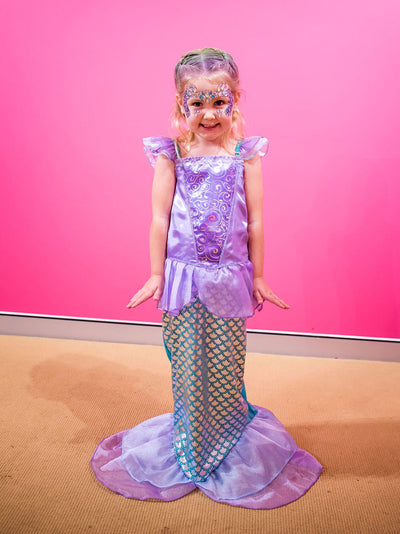 ariel mermaid princess party dress - little mermaid inspirired party dress for girls