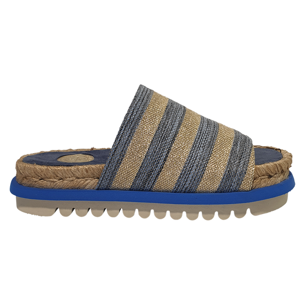 PABLO GILABERT SLIDE STRIPE LIGHT BLUE