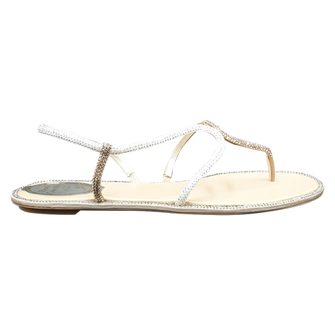 René caovilla women sandals gold-white