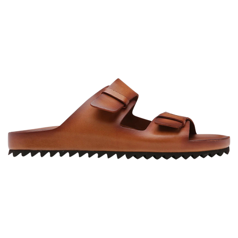 Officine Creative men slides cognac