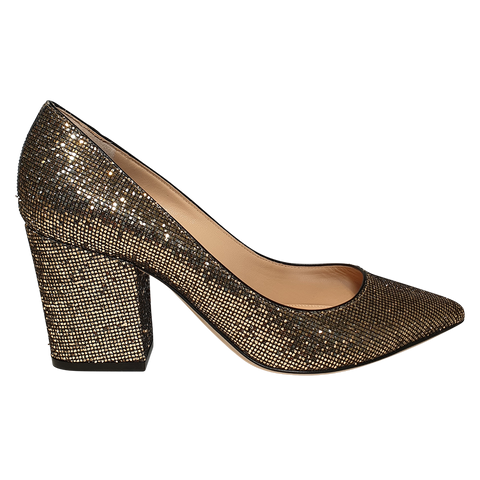 Sergio Rossi women pumps gold
