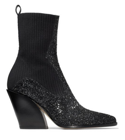 Jimmy choo women boots glitter black