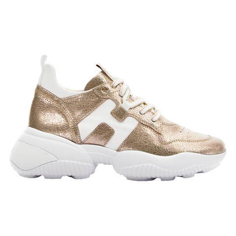 Hogan women sneakers gold
