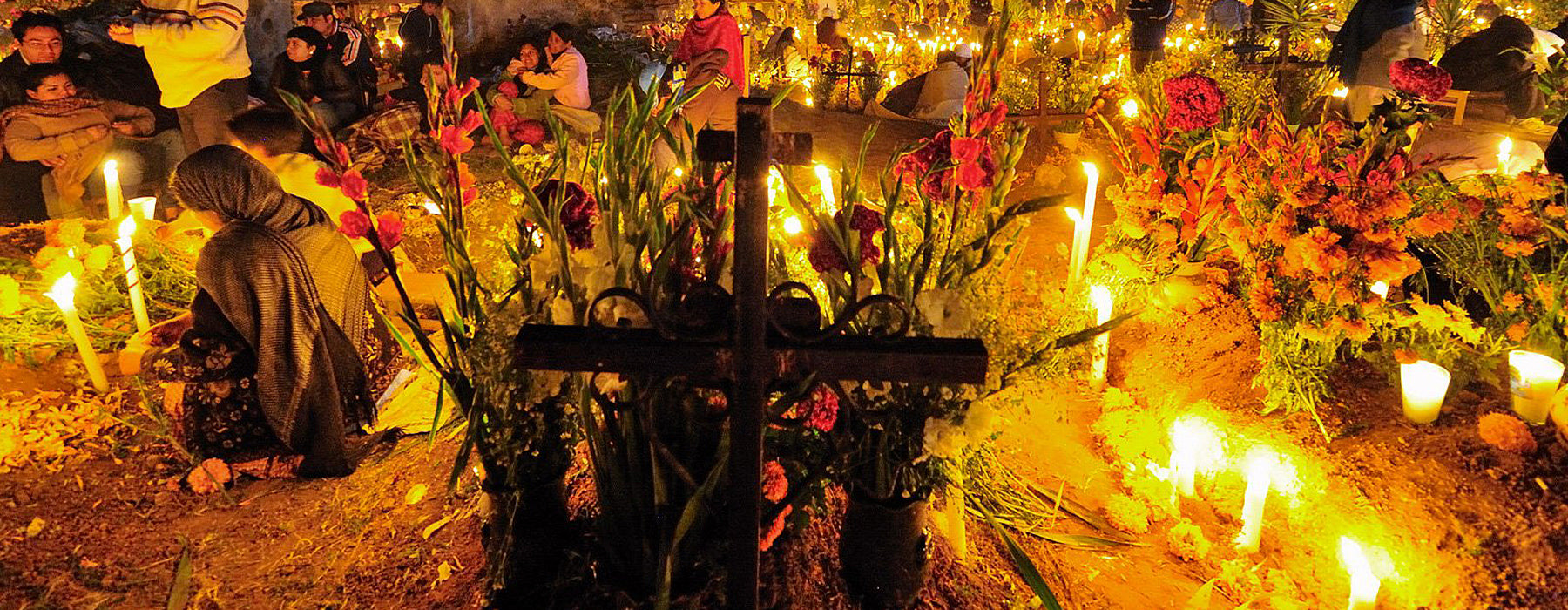 Tända Ljus Under Day Of The Dead
