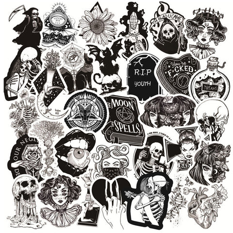 Sticker Pack Dödskallar