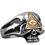Illuminati Ring Dödskalle