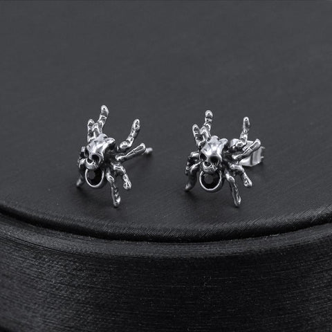 Spider Skull Earrings