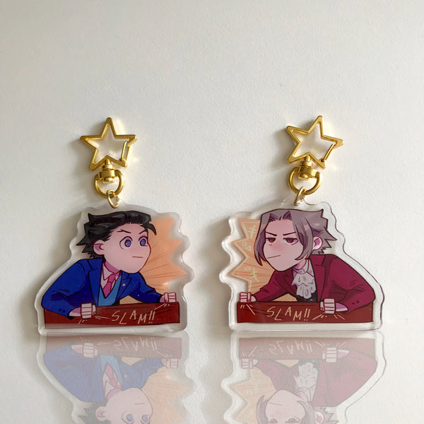 Ace Attorney Desk Slam Charm