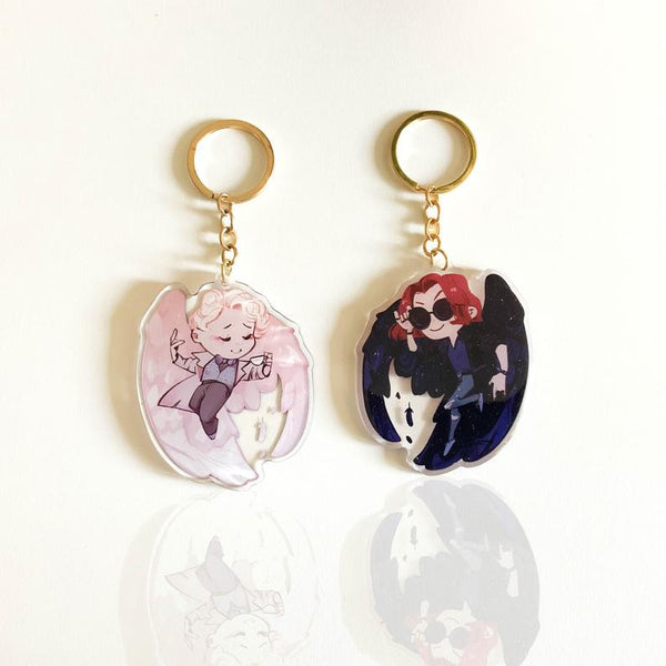 "3"" Good Omens Double Sided Charm"