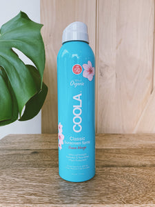 COOLA Classic Body Organic Sunscreen Spray 6oz. SPF 50 - Guava Mango