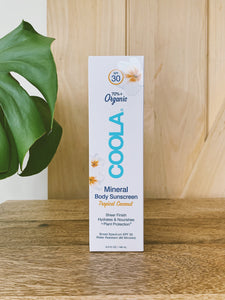 COOLA Mineral Body Organic Sunscreen Lotion 5oz. SPF 30 - Unscented & Coconut