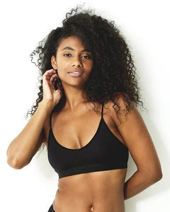 Stripe & Stare T-Shirt Bra- Black