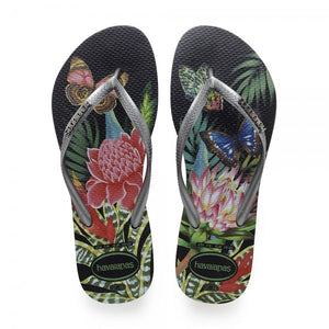 Havaianas Slim Sandal- Tropical Black/Graphite
