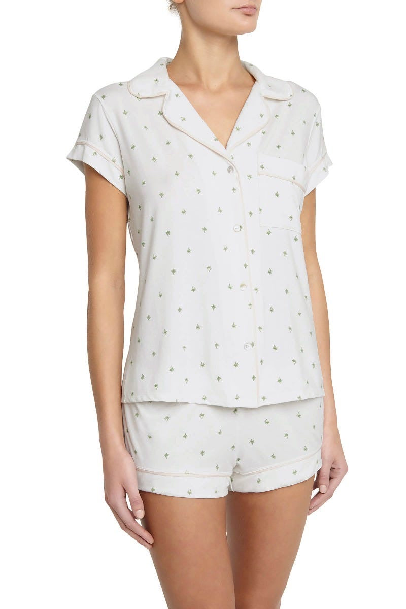 Eberjey Giving Palm Short Pajama Set