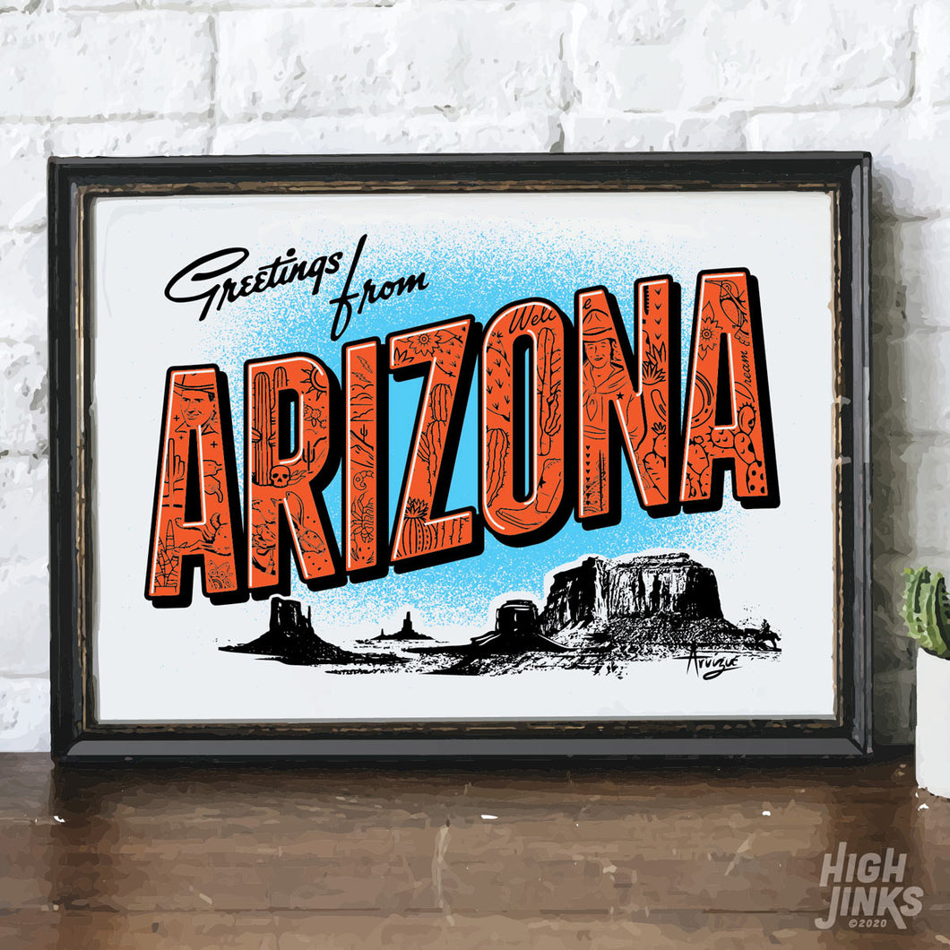 Arizona Big Letter : 8x10 Giclée Print