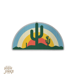 "AZ Sun Rays : 3"" Brushed Aluminum Vinyl Sticker"