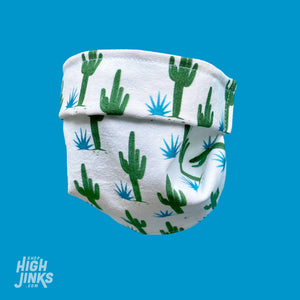 100% Cotton Washable Face Mask : Agave Print
