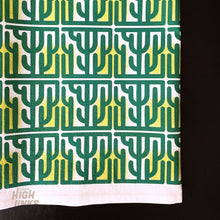 Load image into Gallery viewer, Mid Century Modern Cactus Block : Tea Towel
