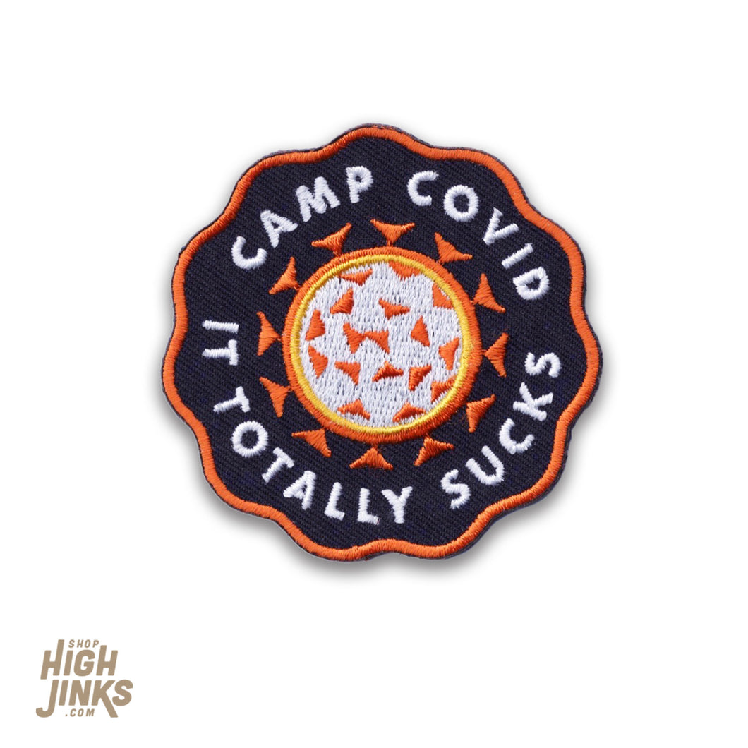 Camp Covid : Embroidered Patch