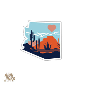 "Heart of the Desert : 1.25"" Acrylic Pinback Button"