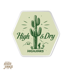 "High & Dry : 3"" Vinyl Sticker"