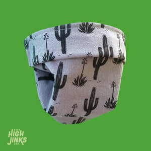 100% Cotton Washable Face Mask : Painted Saguaro B&G