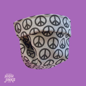 100% Cotton Washable Face Mask : Peace Signs